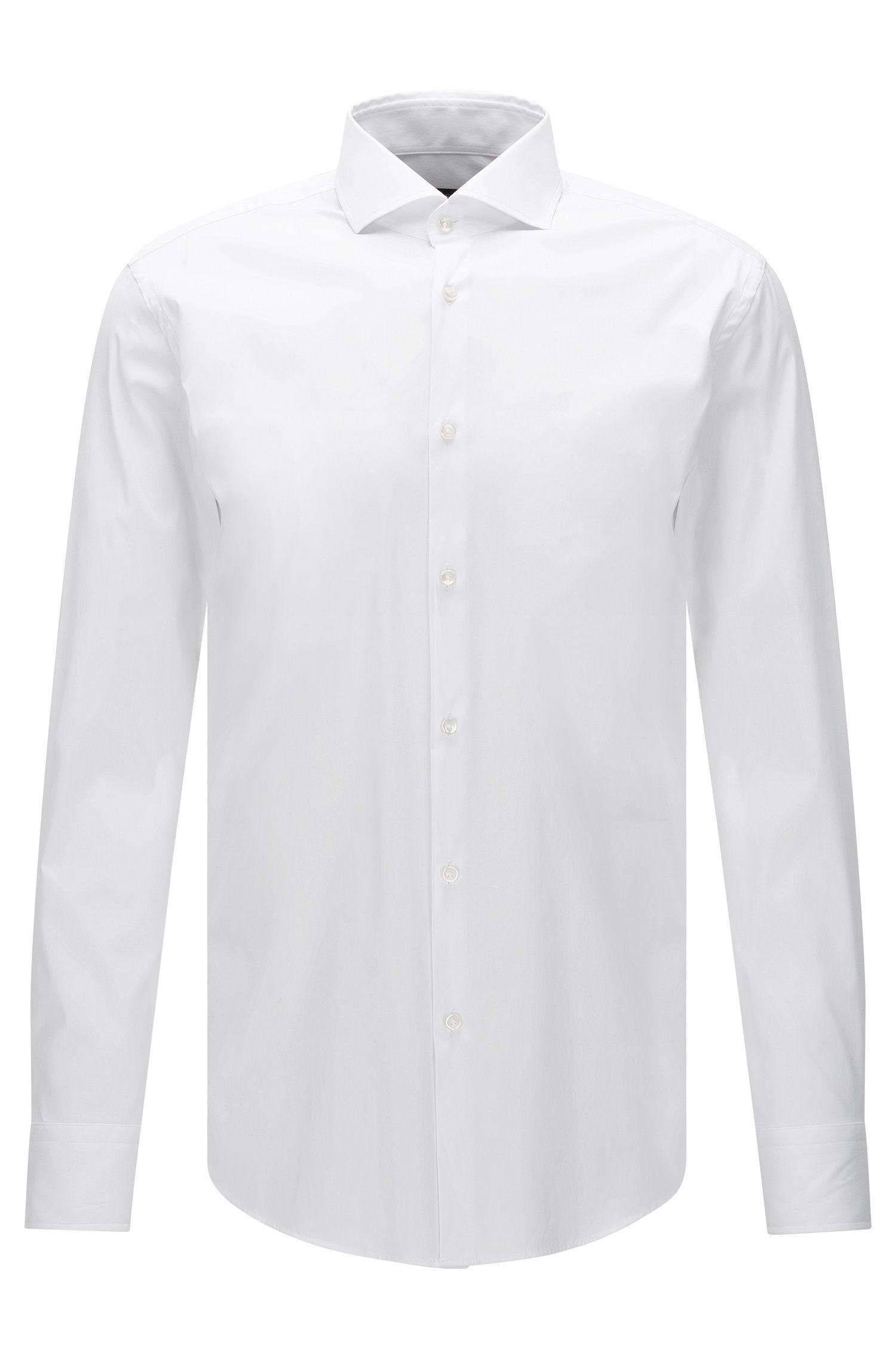 Slim-fit overhemd van popeline met stretch