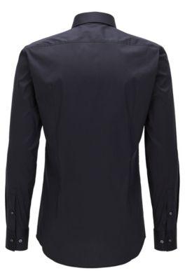 c74a3bf6995 Slim-fit overhemd van popeline met stretch