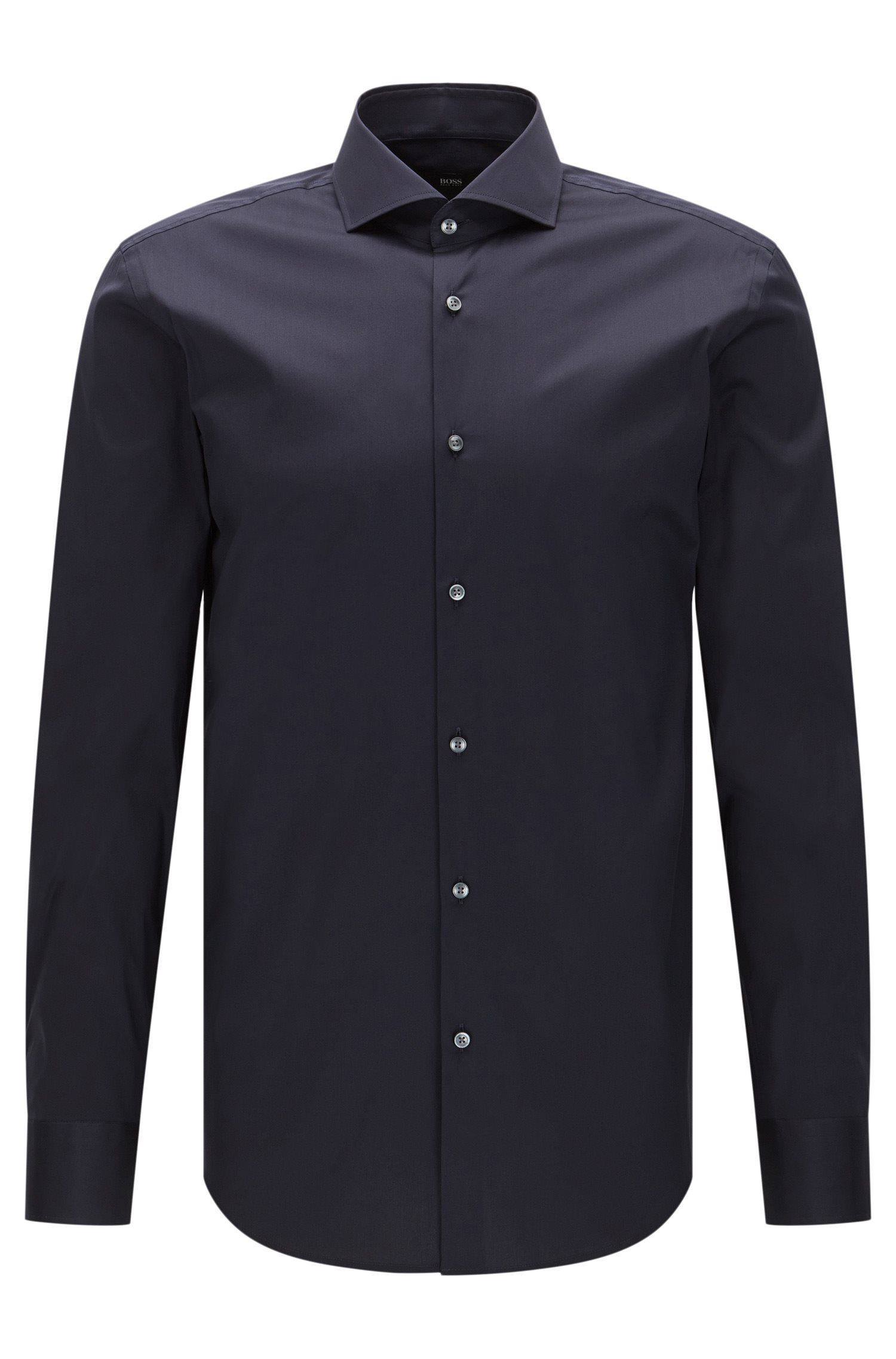 Slim-fit shirt in stretch poplin