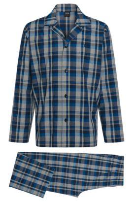 Gemusterter Pyjama aus Baumwolle: 'Pyjama 1', Blau