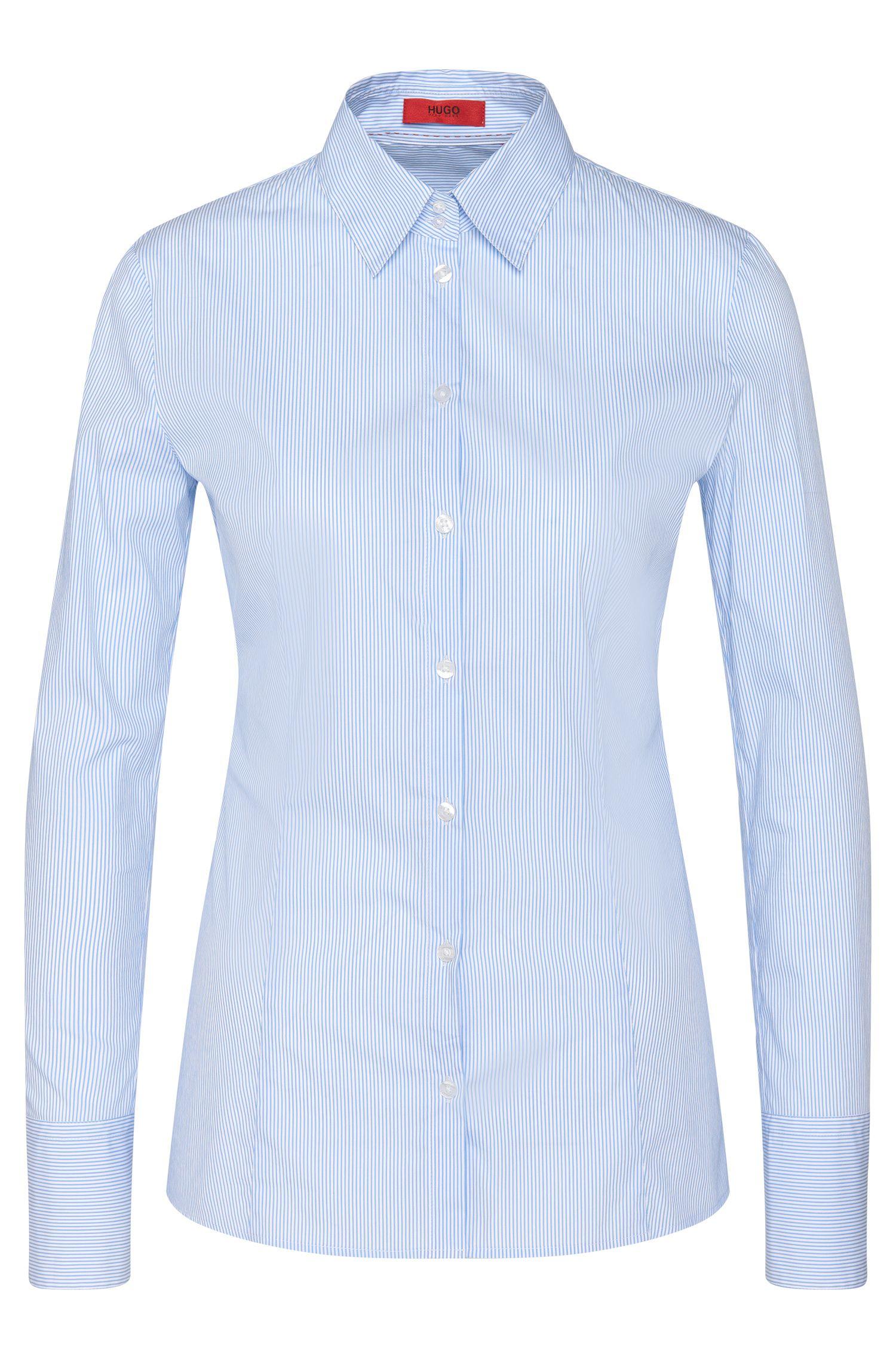 Blusa en mezcla de algodón elástico: 'Etrixe1'