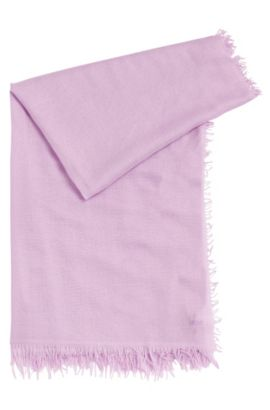 Scarf in viscose blend with cashmere: 'Women-Z 437', Light Purple