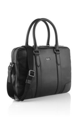 Zakelijke tas 'Morval' van leer, Zwart