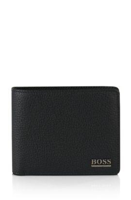 Geldbörse aus Leder: 'Monad', Schwarz
