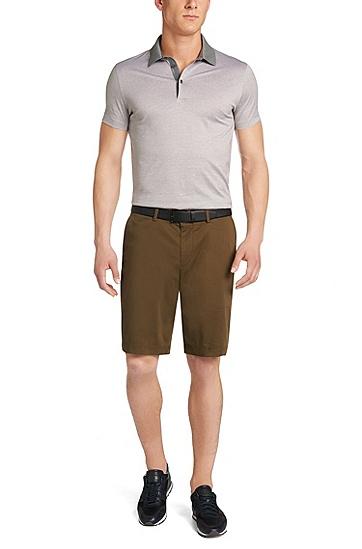 男士饰有浮雕式压花细节的皮革腰带,  001_黑色