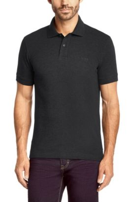 Polo Regular Fit en coton Pima : « Firenze/Logo Modern Essential », Anthracite