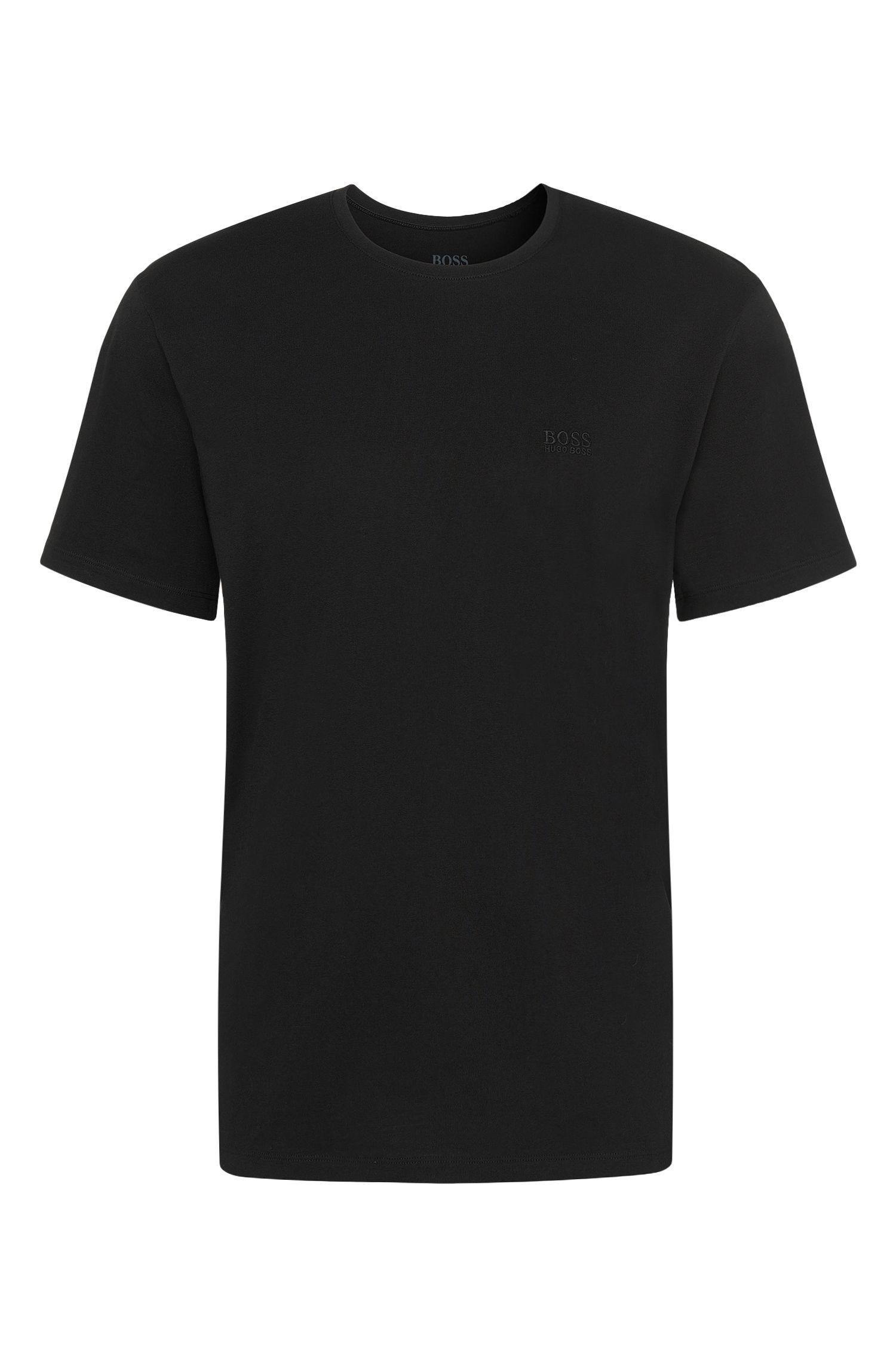 T-shirt en coton à coupe relax avec encolure ras-du-cou