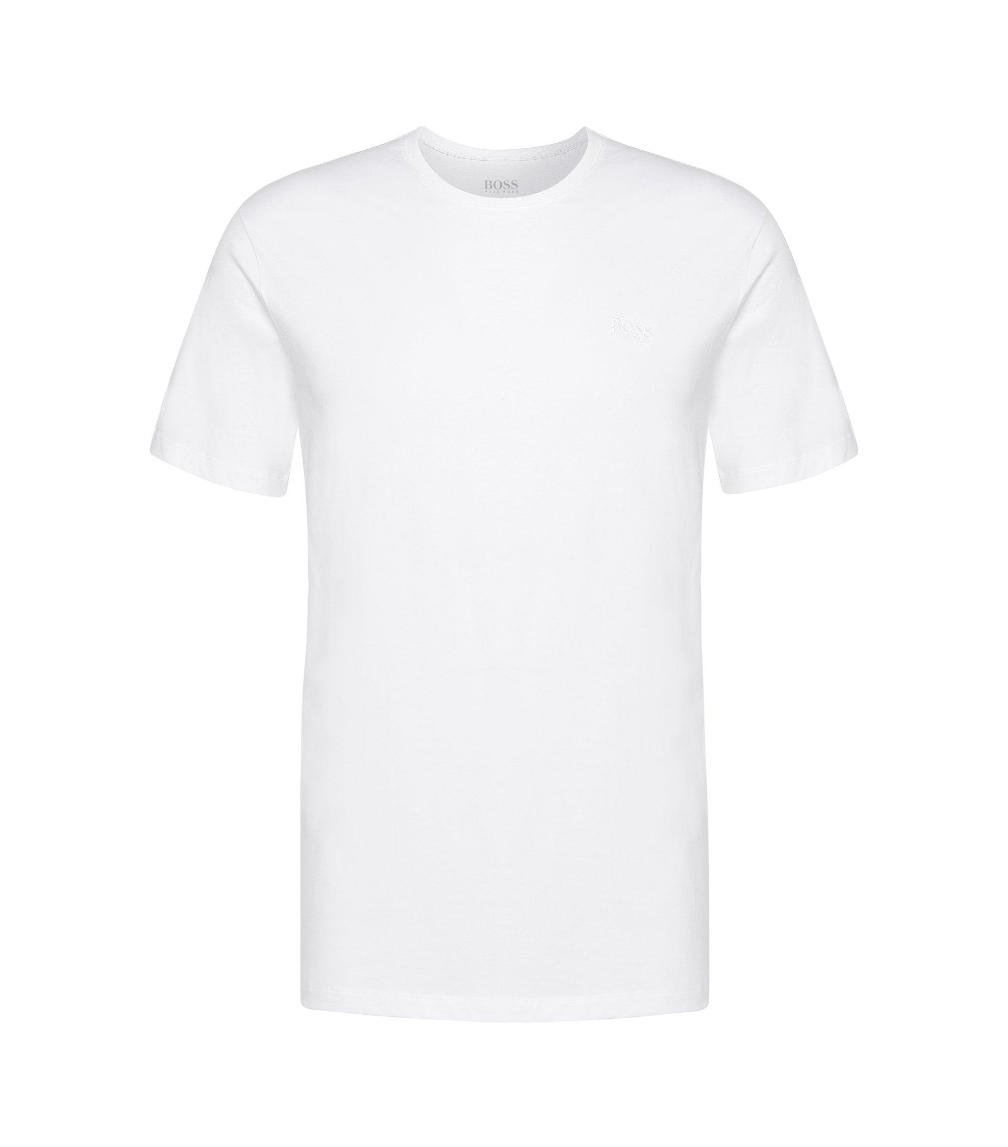 Relaxed-Fit Baumwoll-Shirt mit Rundhalsausschnitt, Weiß