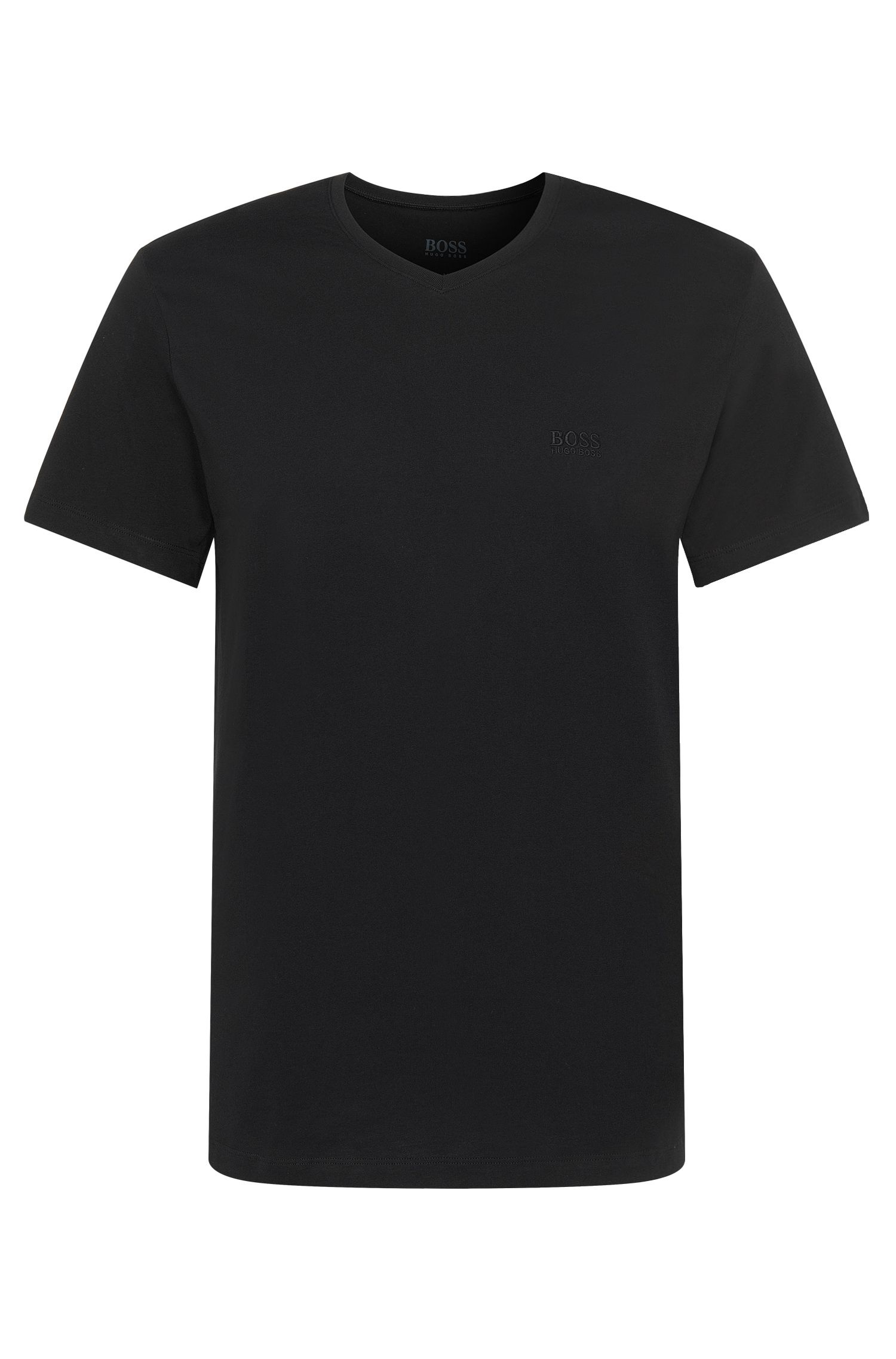 Relaxed-fit cotton T-shirt with V-neck