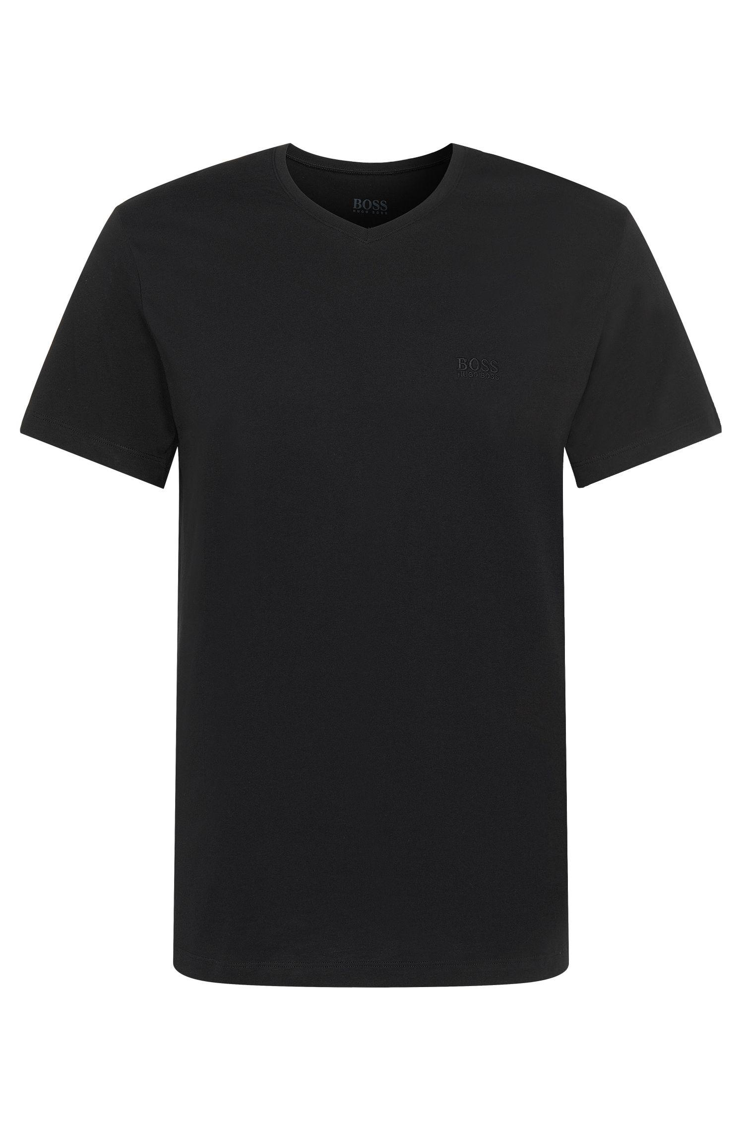 Relaxed-fit T-shirt van katoen met V-hals