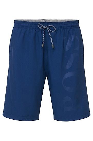 男士磨毛面料游泳短裤,  424_中蓝色