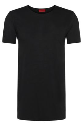 T-shirt relaxed fit in cotone Supima , Nero