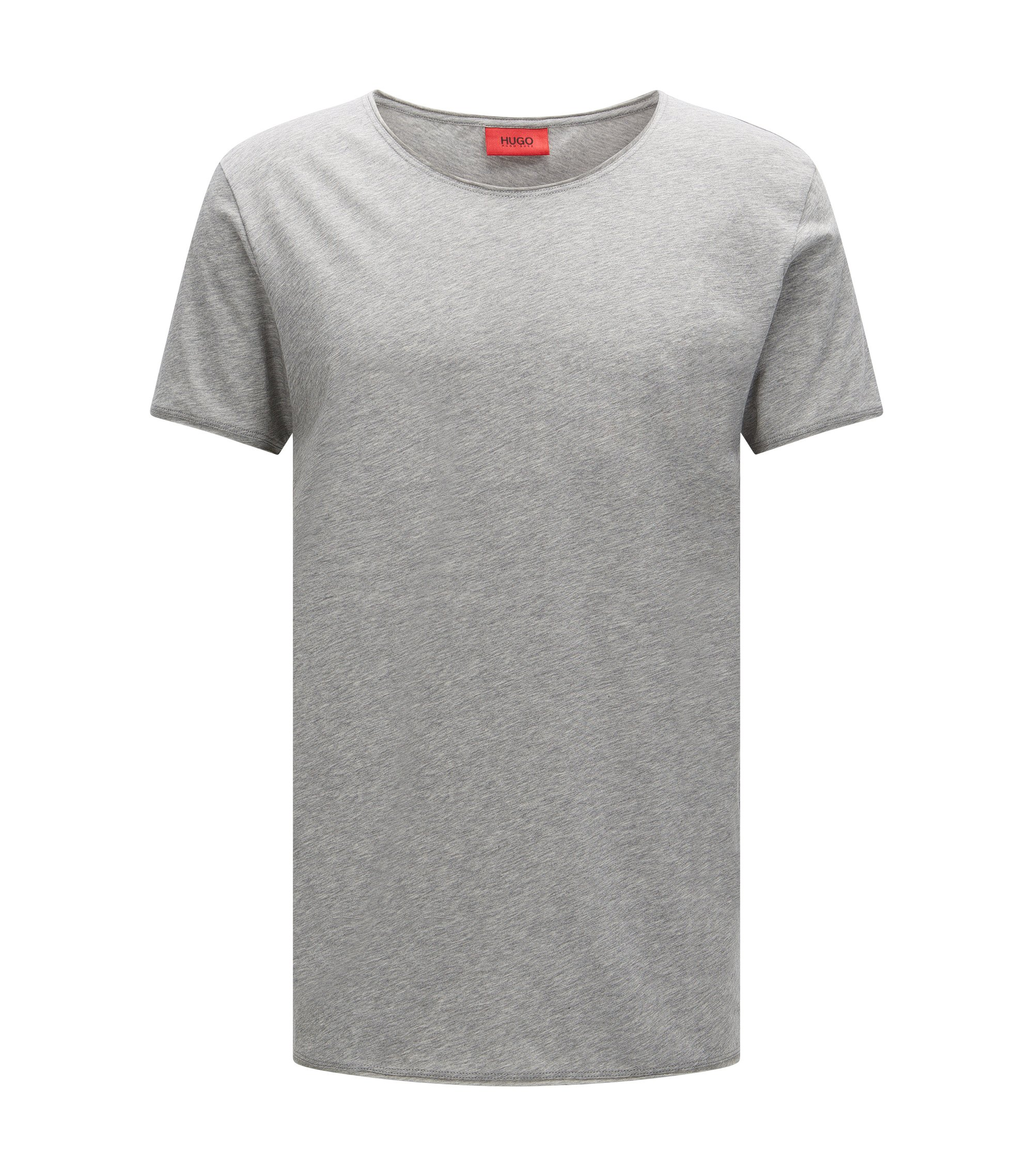 T-shirt Relaxed Fit en coton Supima , Gris chiné