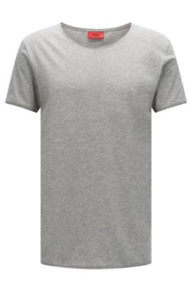 T-shirt relaxed fit in cotone Supima , Grigio scuro