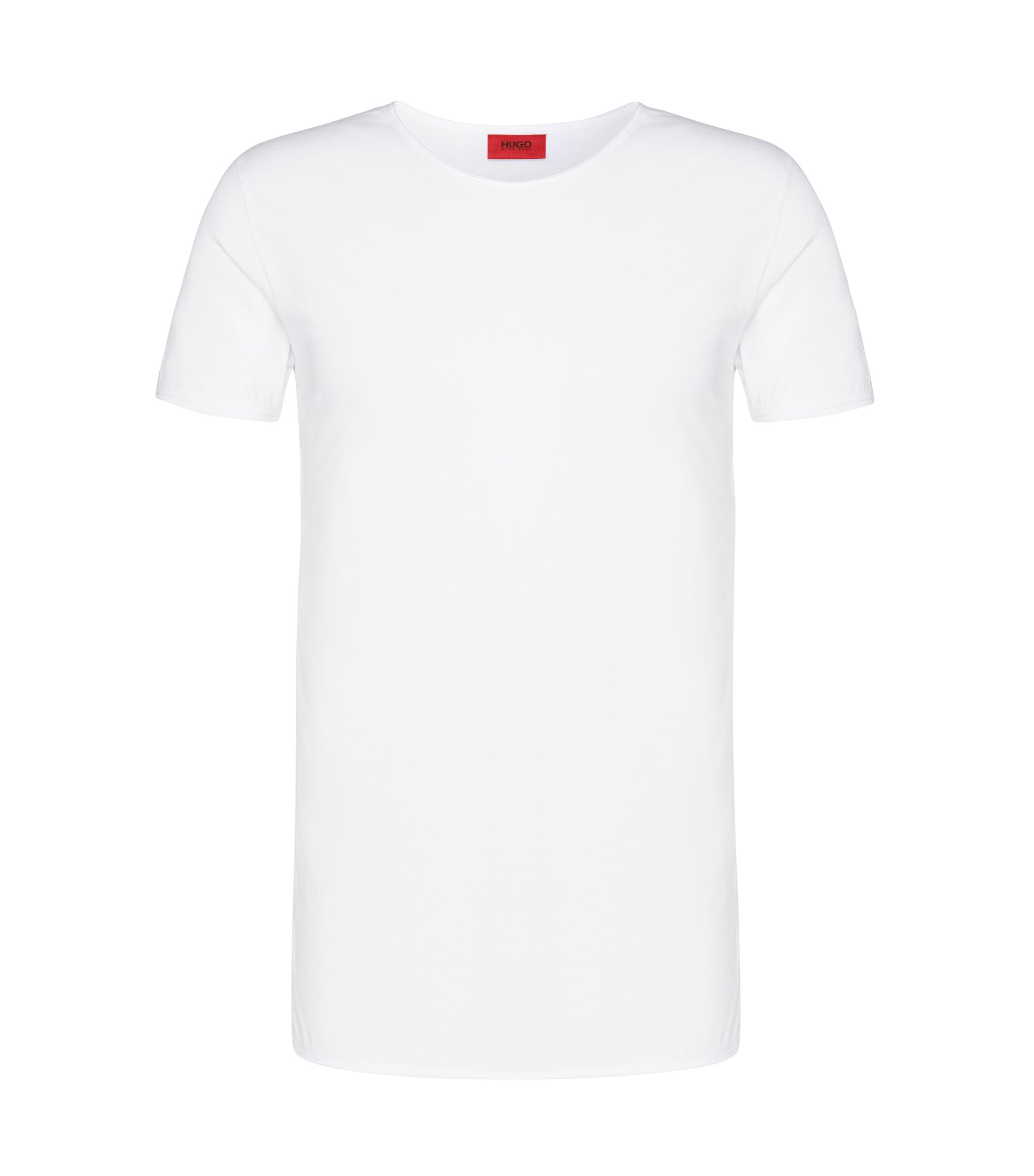 Relaxed-fit T-shirt van supimakatoen , Wit