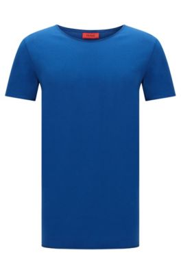 Relaxed-Fit T-Shirt aus Supima-Baumwolle , Blau