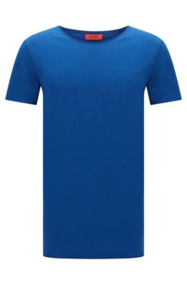 Relaxed-fit T-shirt van supimakatoen , Blauw