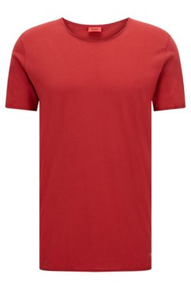 Relaxed-fit T-shirt van supimakatoen , Donkerrood