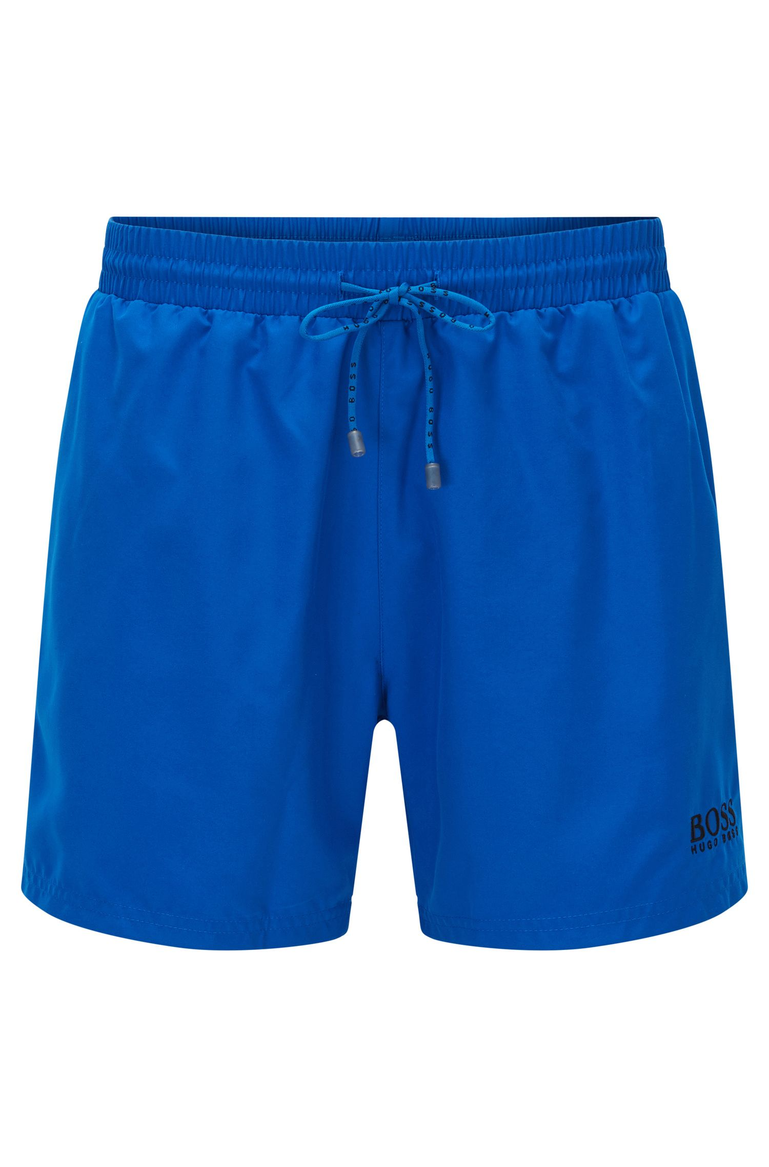 Short-length swim shorts in quick-drying fabric