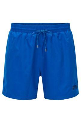Korte zwemshort van sneldrogend materiaal, Blauw