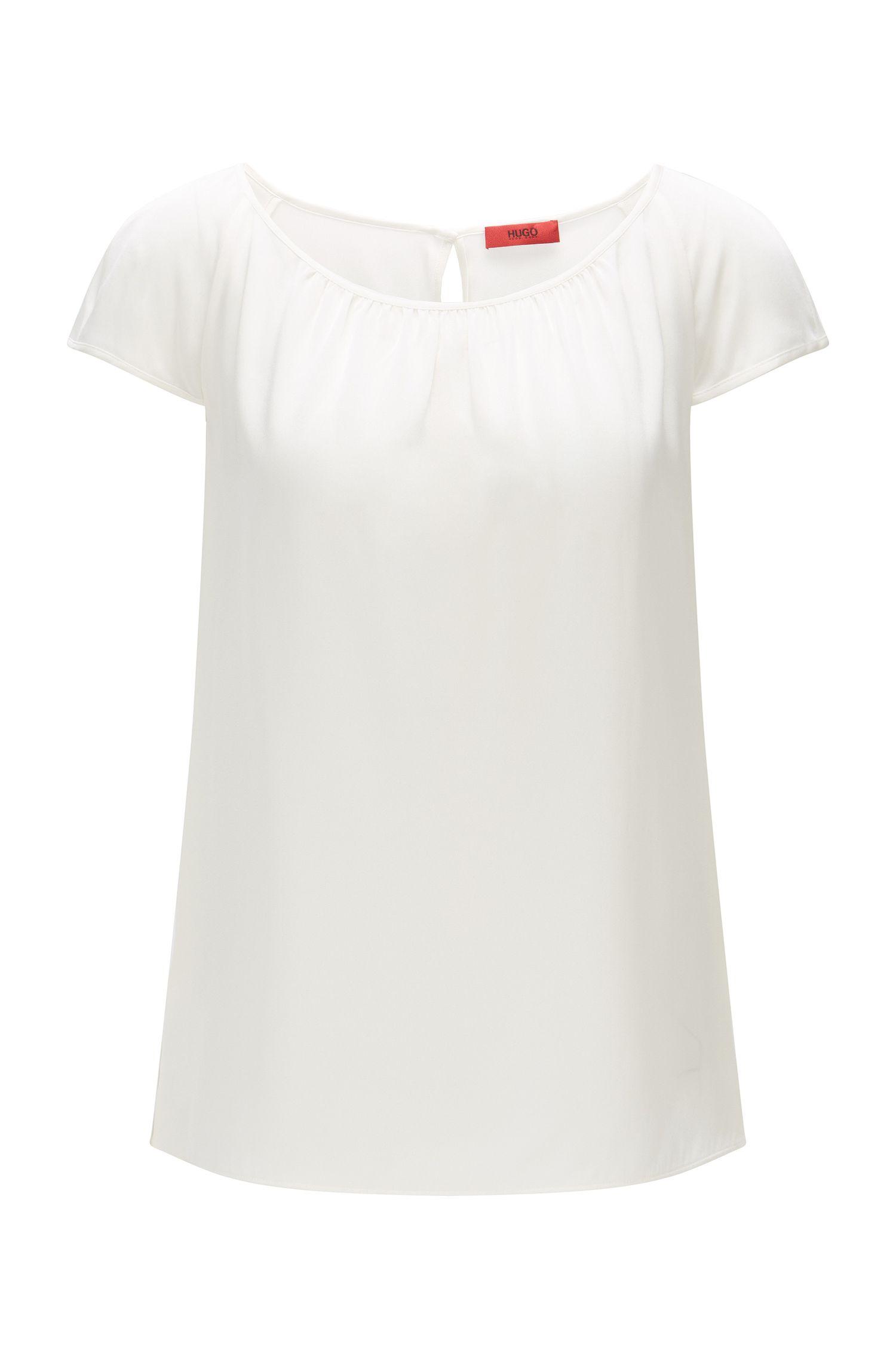 Top ajustado en seda elástica: 'Catoni-1'