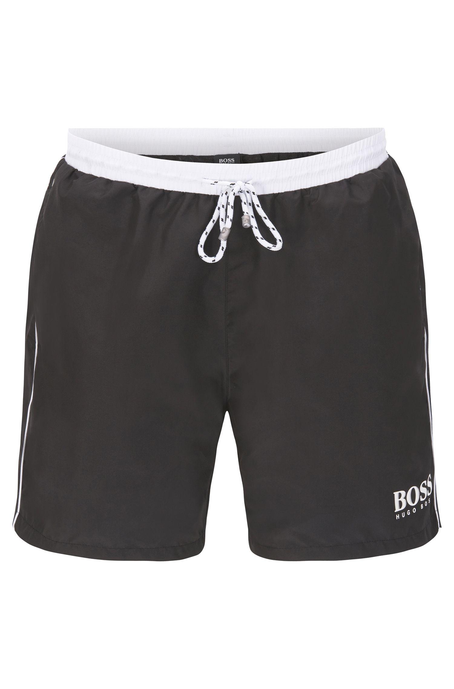 Swim shorts in technical fabric, Black