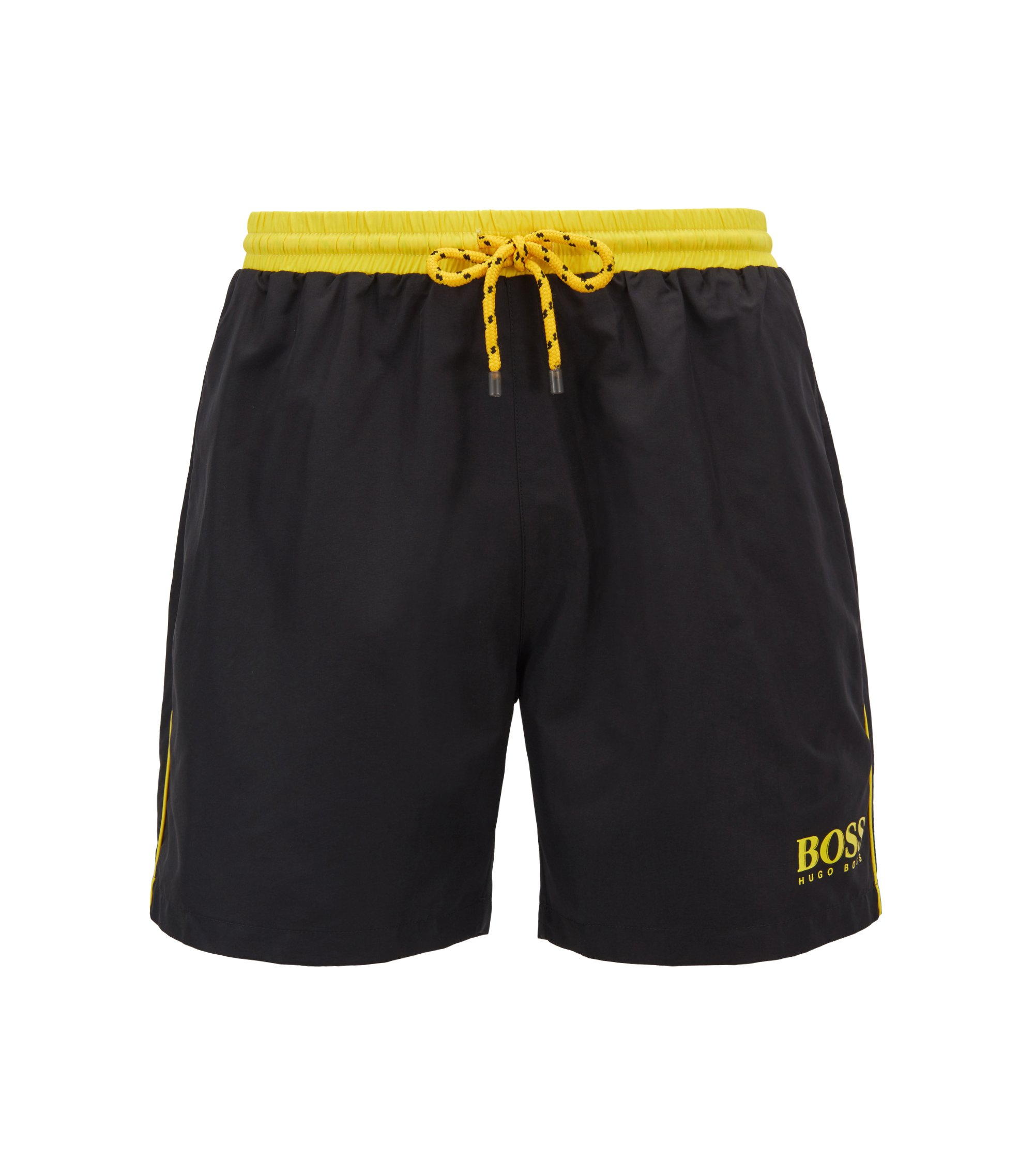 Swim shorts in technical fabric, Black