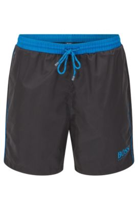 Swim shorts in technical fabric, Anthracite