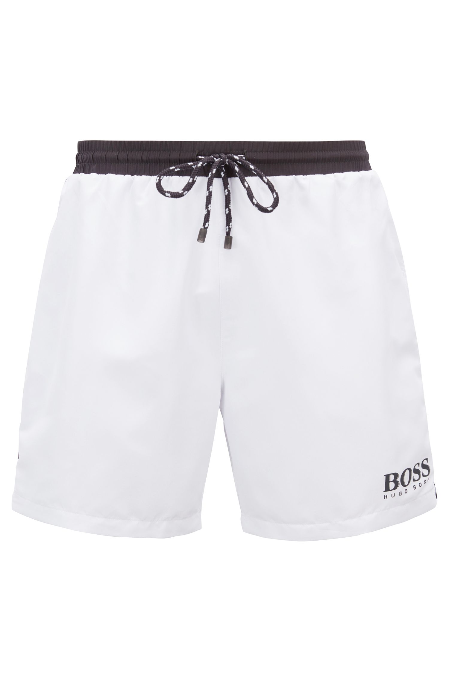 Swim shorts in technical fabric, Open White