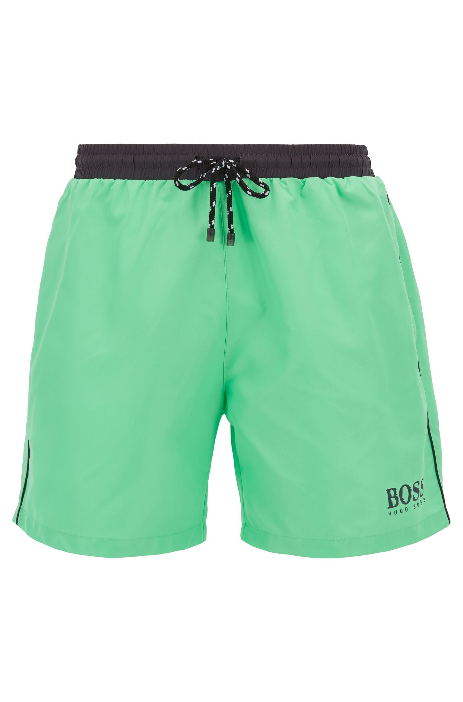 Swim shorts in technical fabric, Light Green