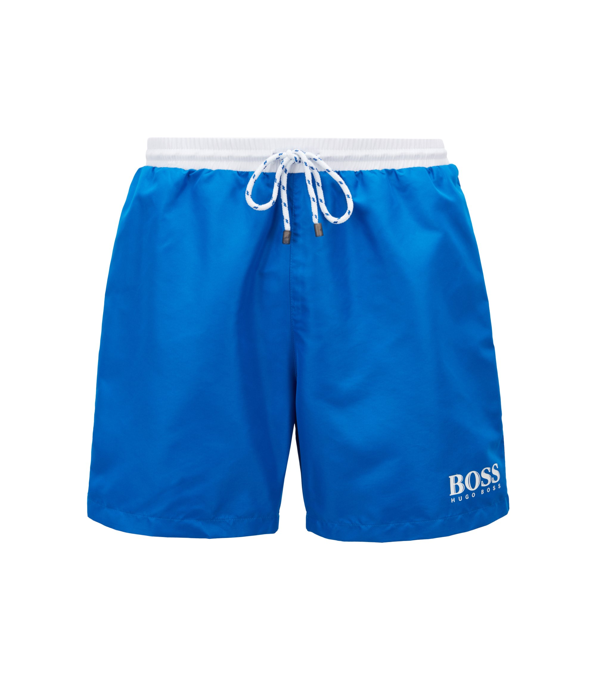 Swim shorts in technical fabric, Blue