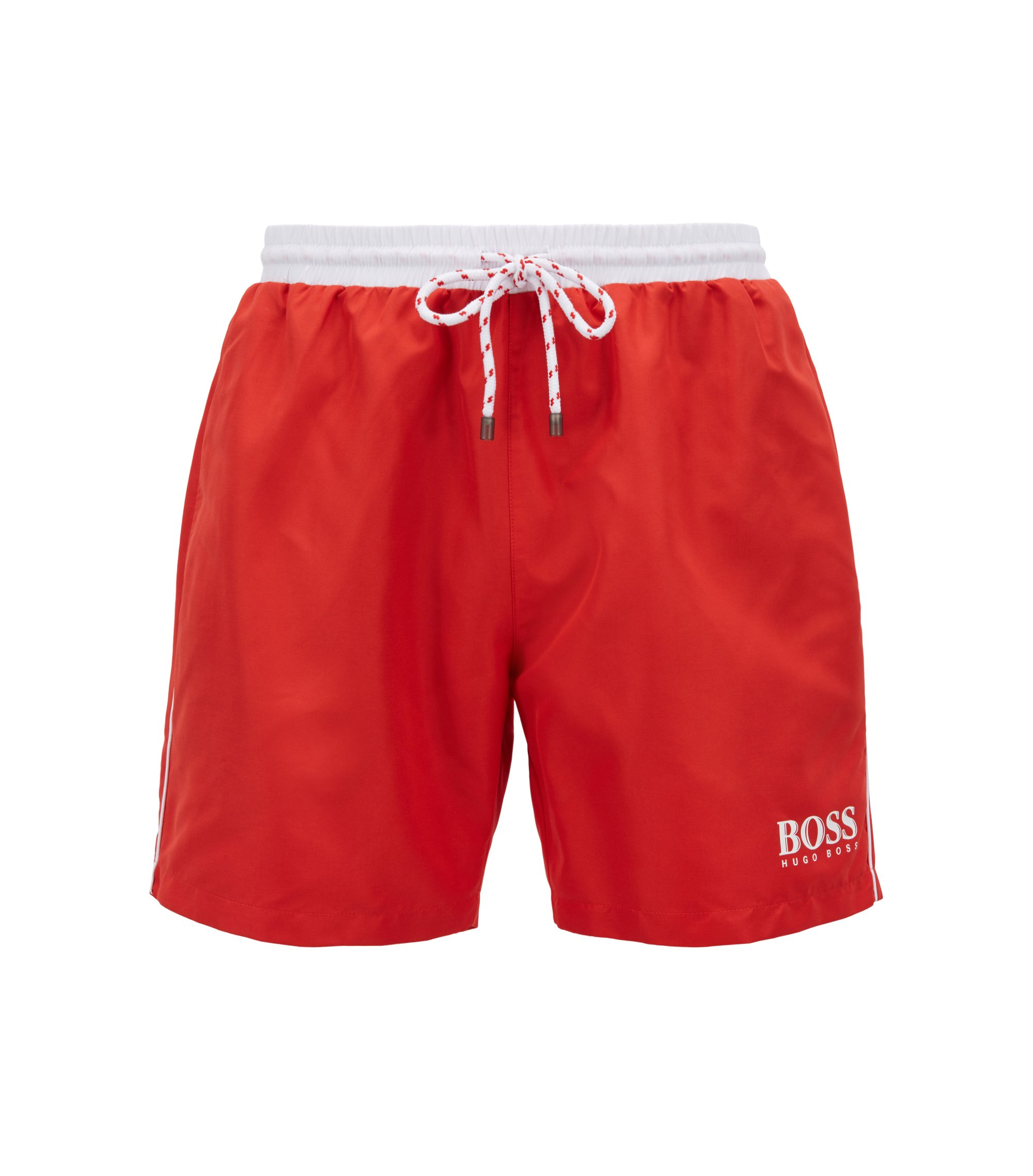 Swim shorts in technical fabric, Red
