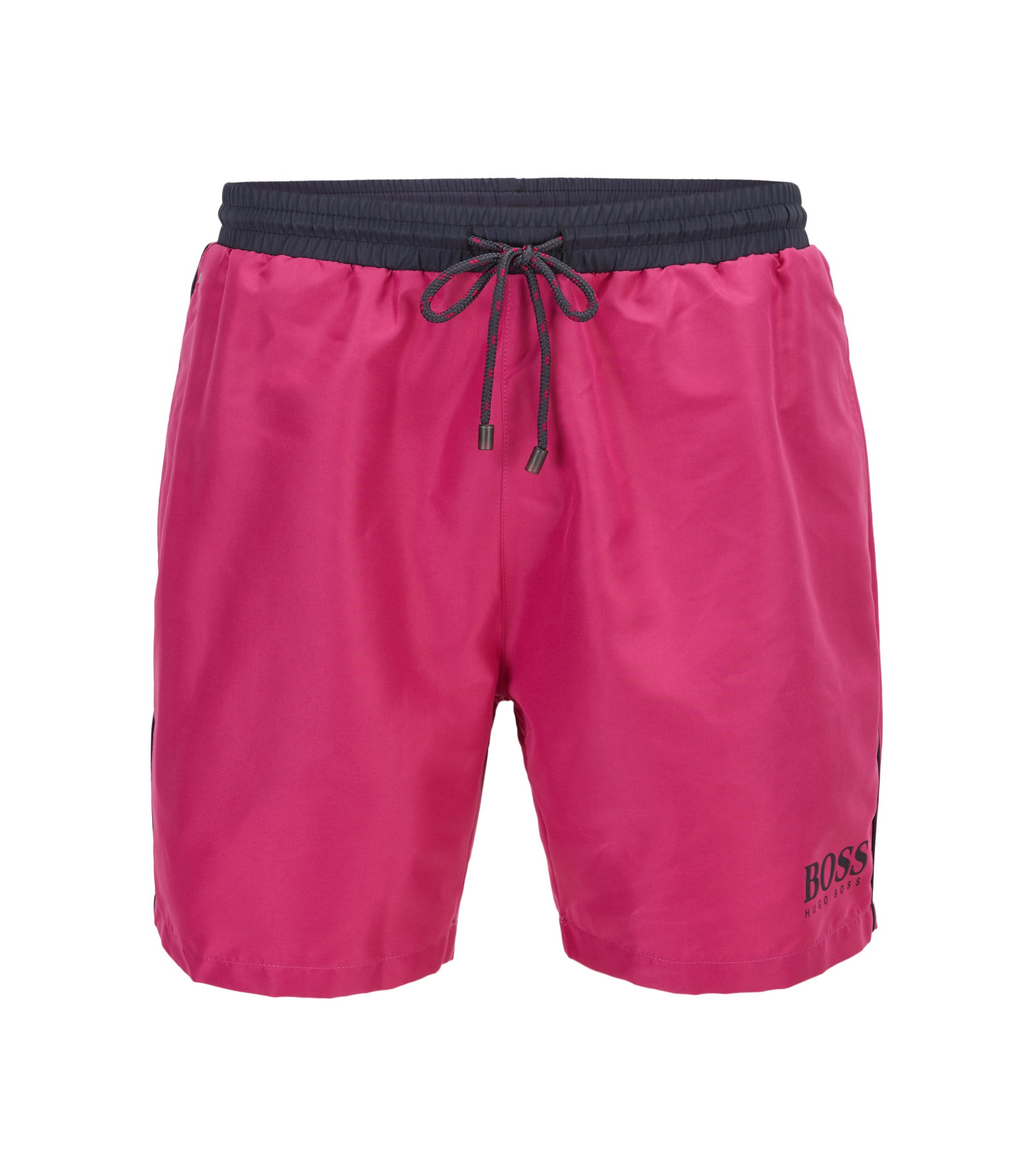 Swim shorts in technical fabric, Pink