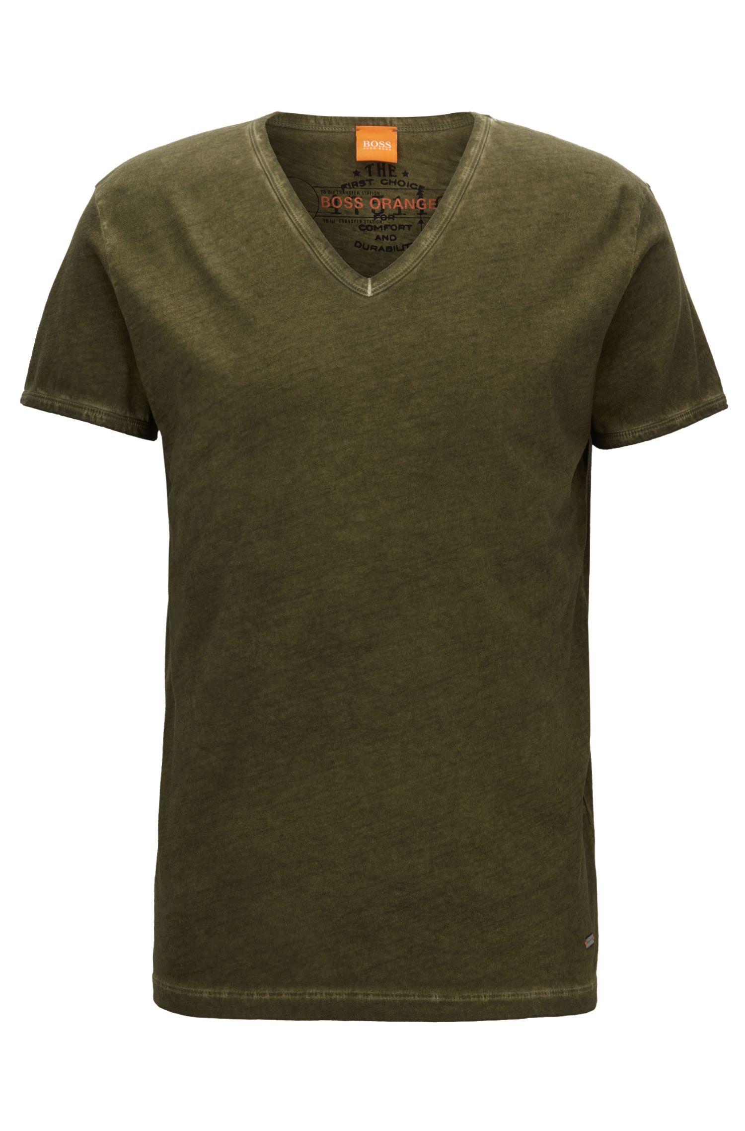 Regular-Fit T-Shirt aus stückgefärbter Baumwolle