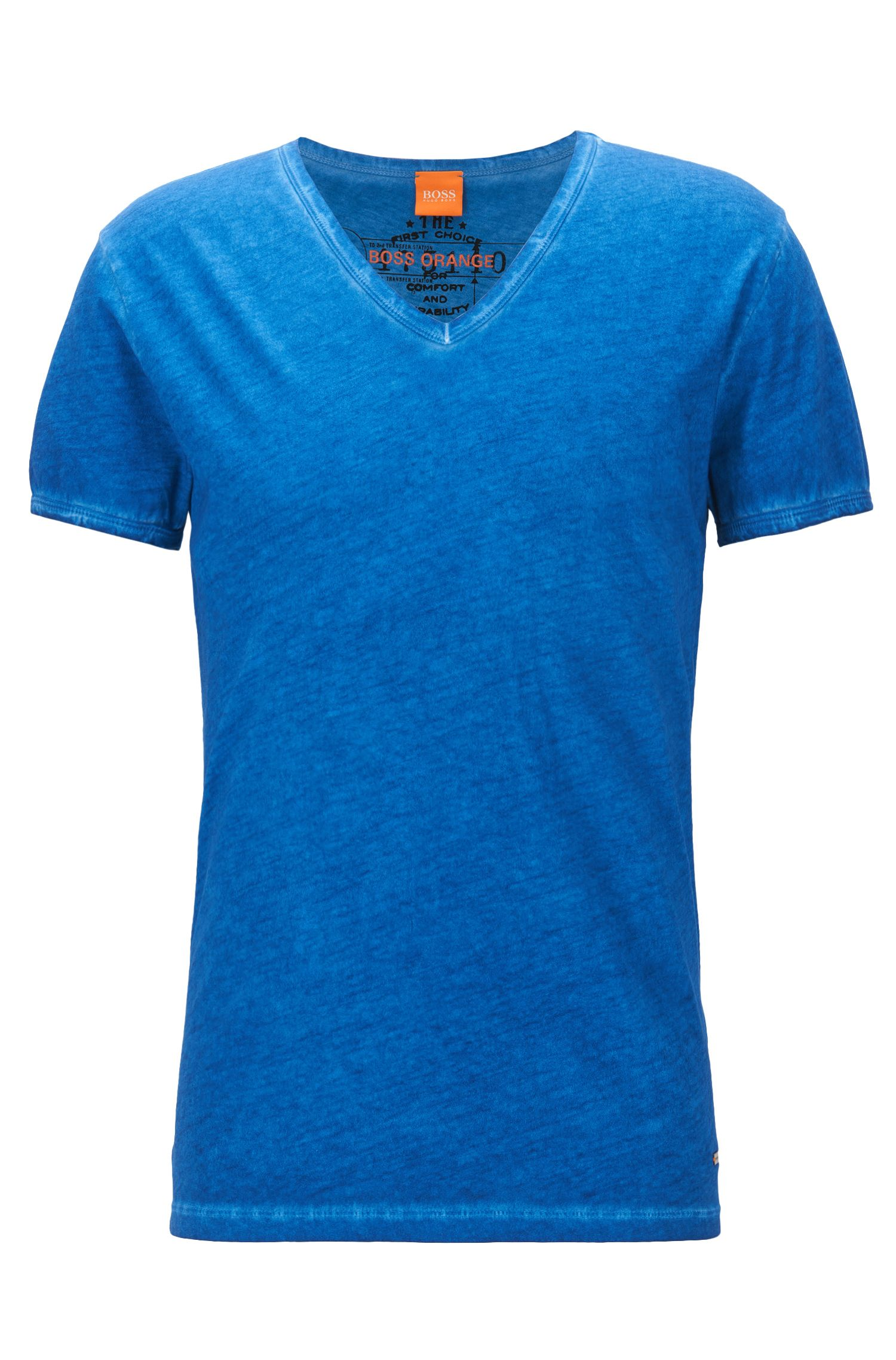 Regular-fit T-shirt in garment-dyed cotton