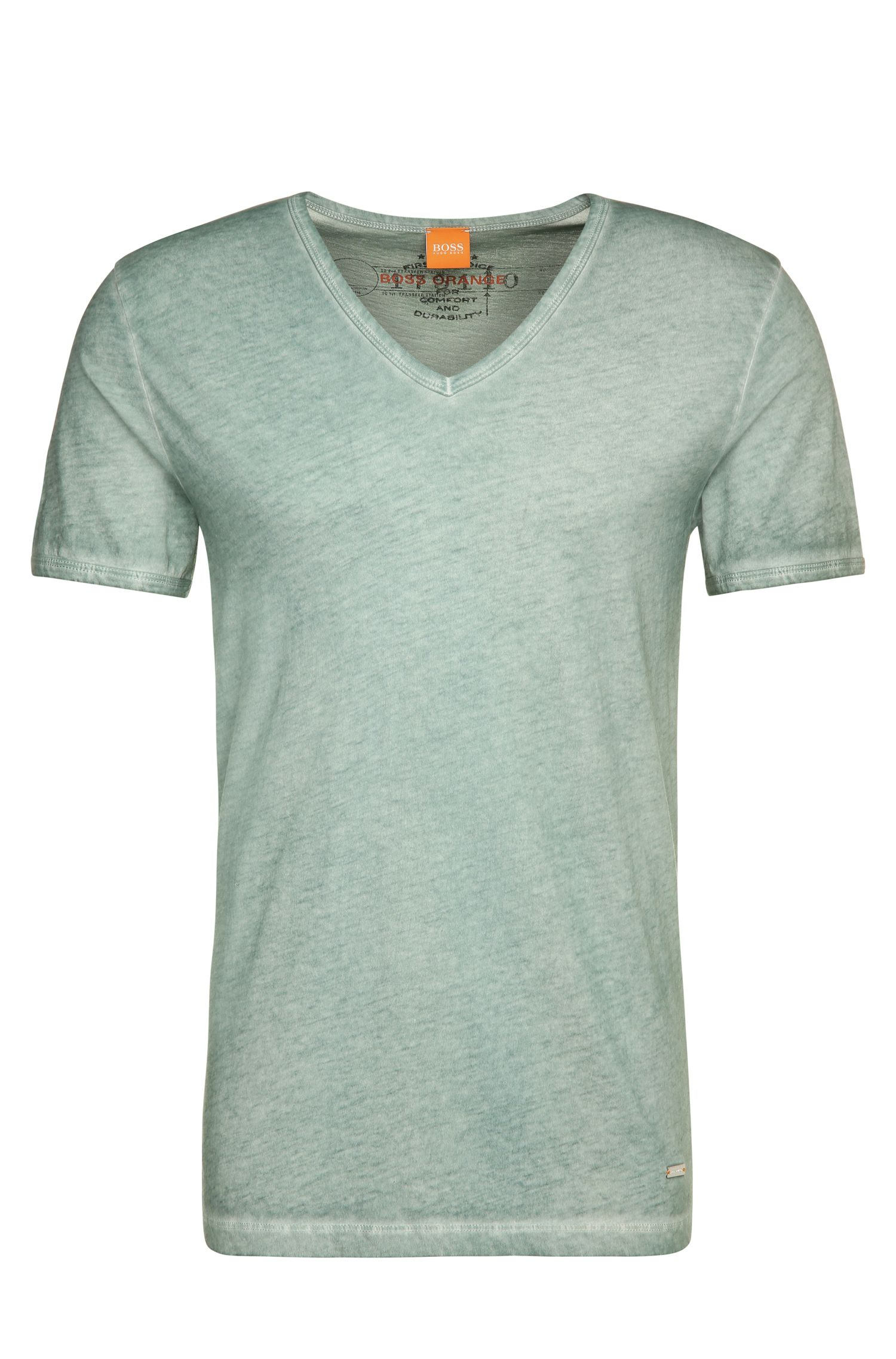 T-shirt Regular Fit en coton garment dyed
