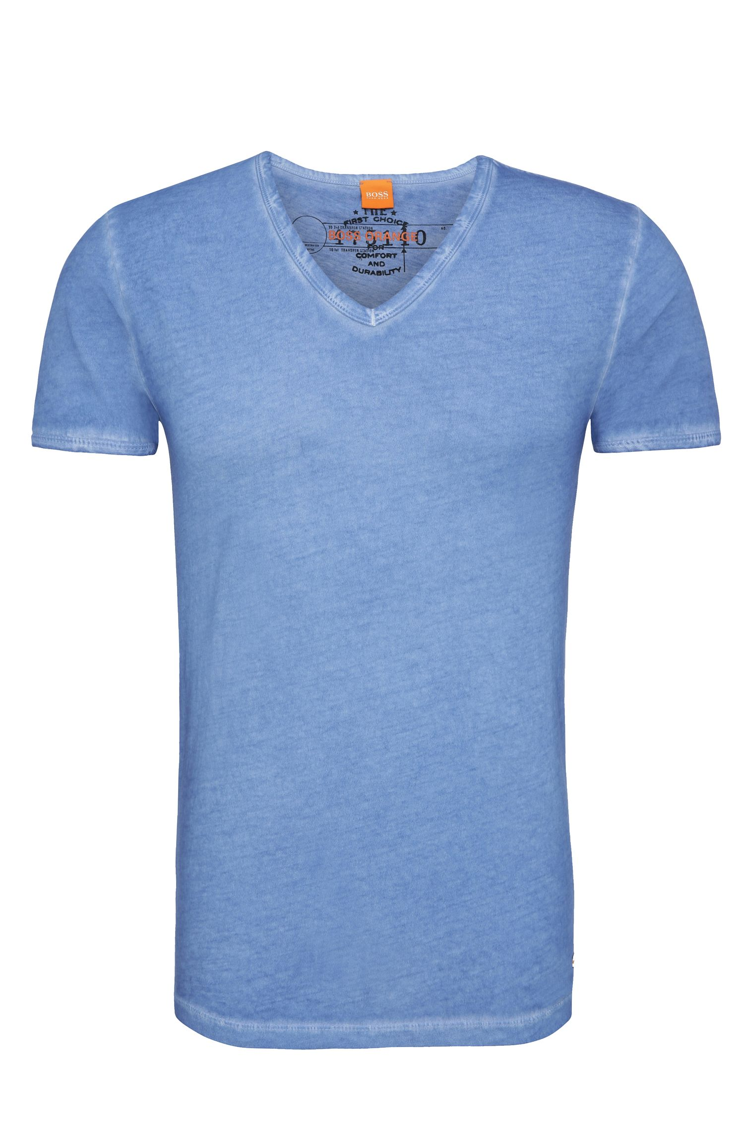 T-shirt regular fit in cotone tinto in capo