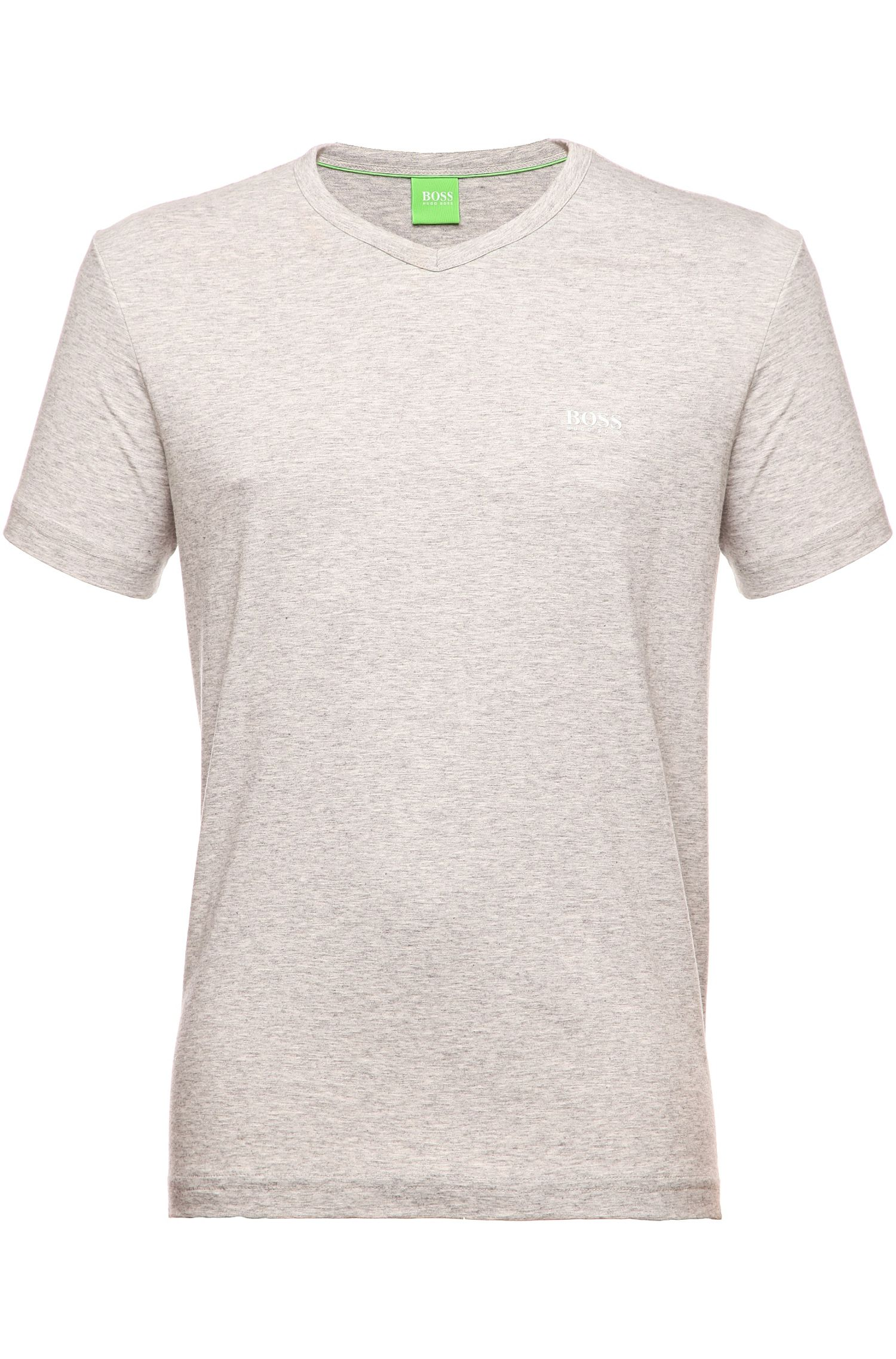 Regular-Fit T-Shirt aus Baumwolle mit V-Ausschnitt: ´Teevn`