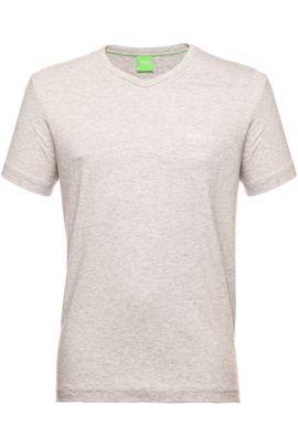 Regular-Fit T-Shirt aus Baumwolle mit V-Ausschnitt: ´Teevn` , Hellgrau