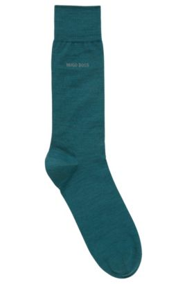 Sokken van een elastische wolmix: 'John', Groen