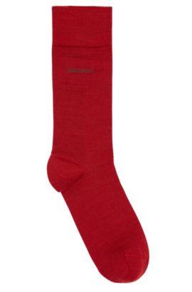 Calcetines en mezcla de lana elástica: 'John', Rojo