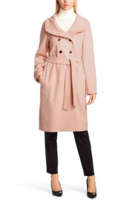 Manteau «Cerva» en laine vierge, Beige clair
