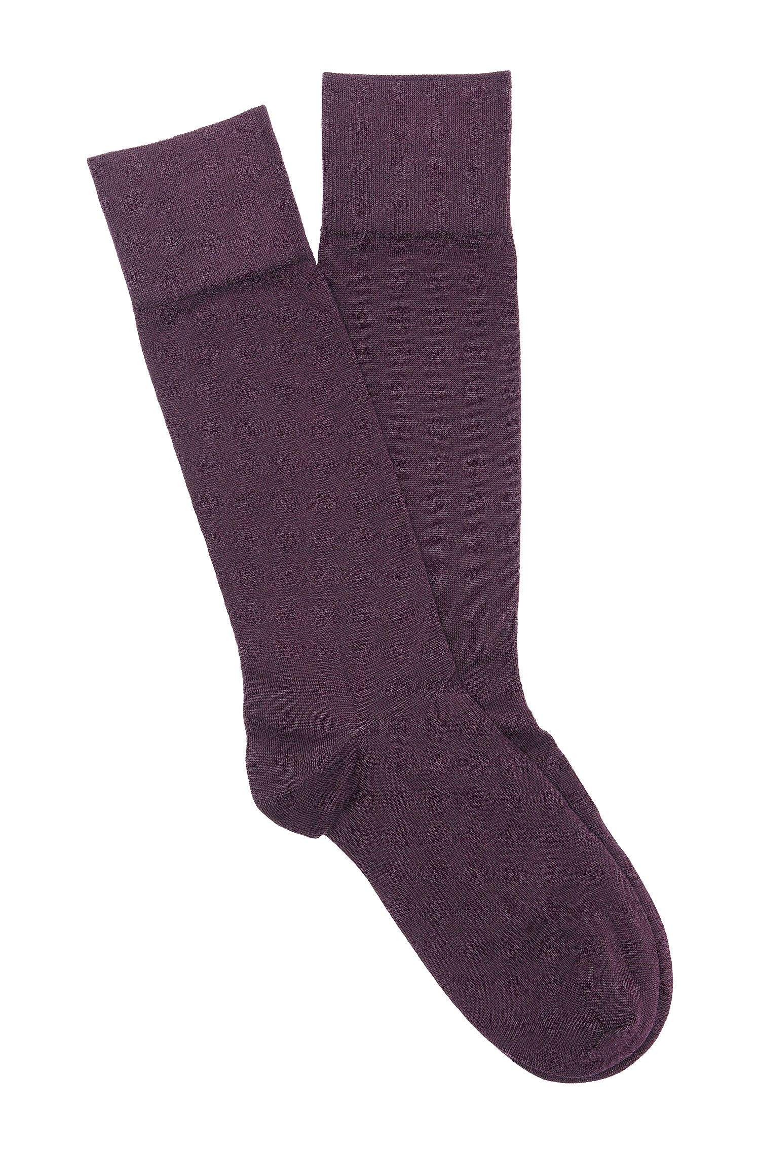 Socks 'TL Cashmere RS' in cashmere blend, Dark Purple