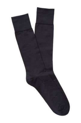 Socks 'TL Silk RS' in a silk blend, Dark Blue