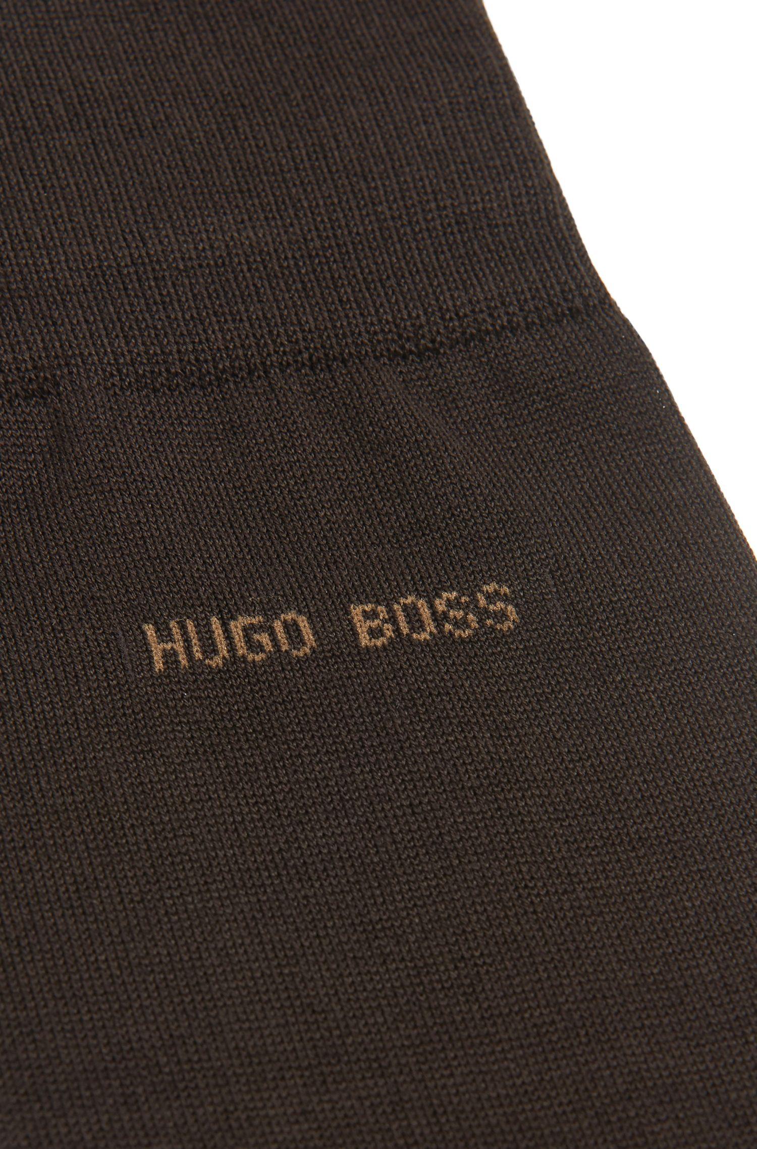 Chaussettes courtes en coton mercerisé avec talon renforcé