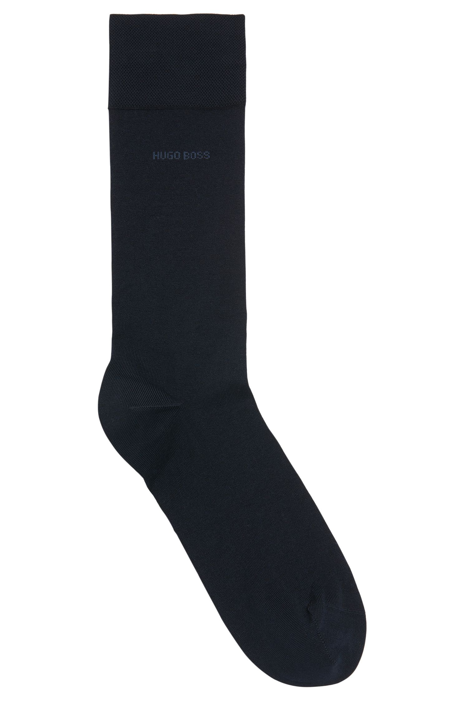 Mercerised cotton socks with hand-linked toes