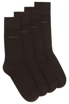 Zweier-Pack Socken aus Baumwoll-Mix mit normaler Länge, Dunkelbraun