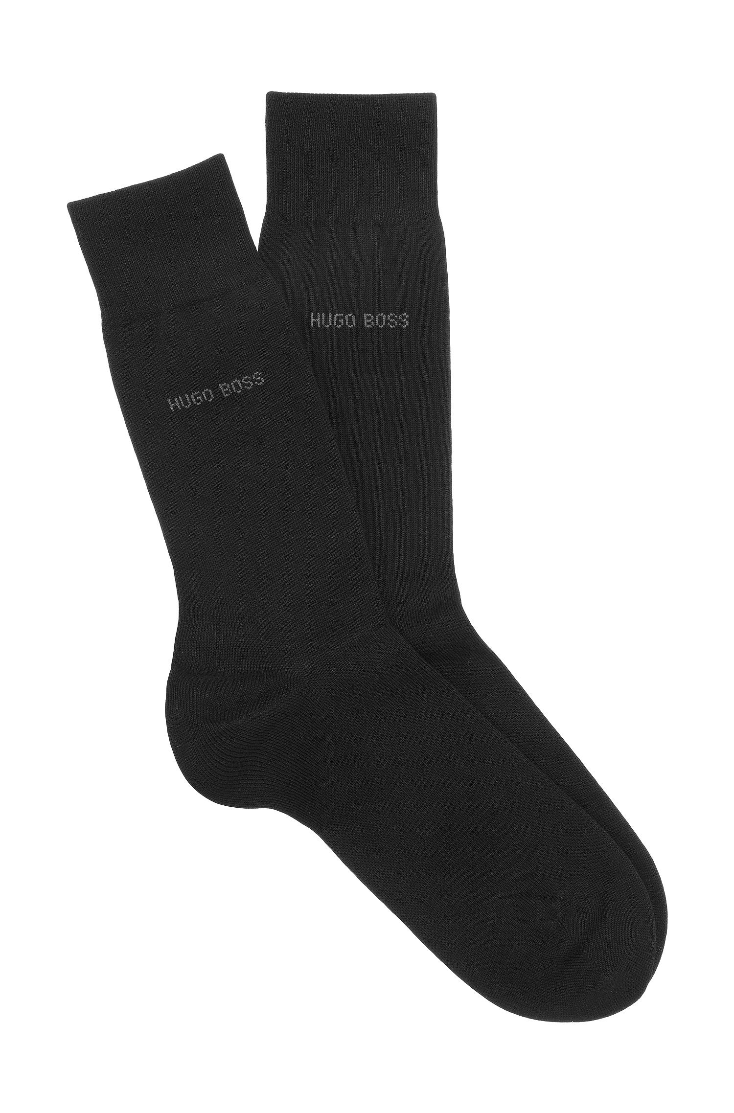 Cotton-blend socks with reinforced stress zones