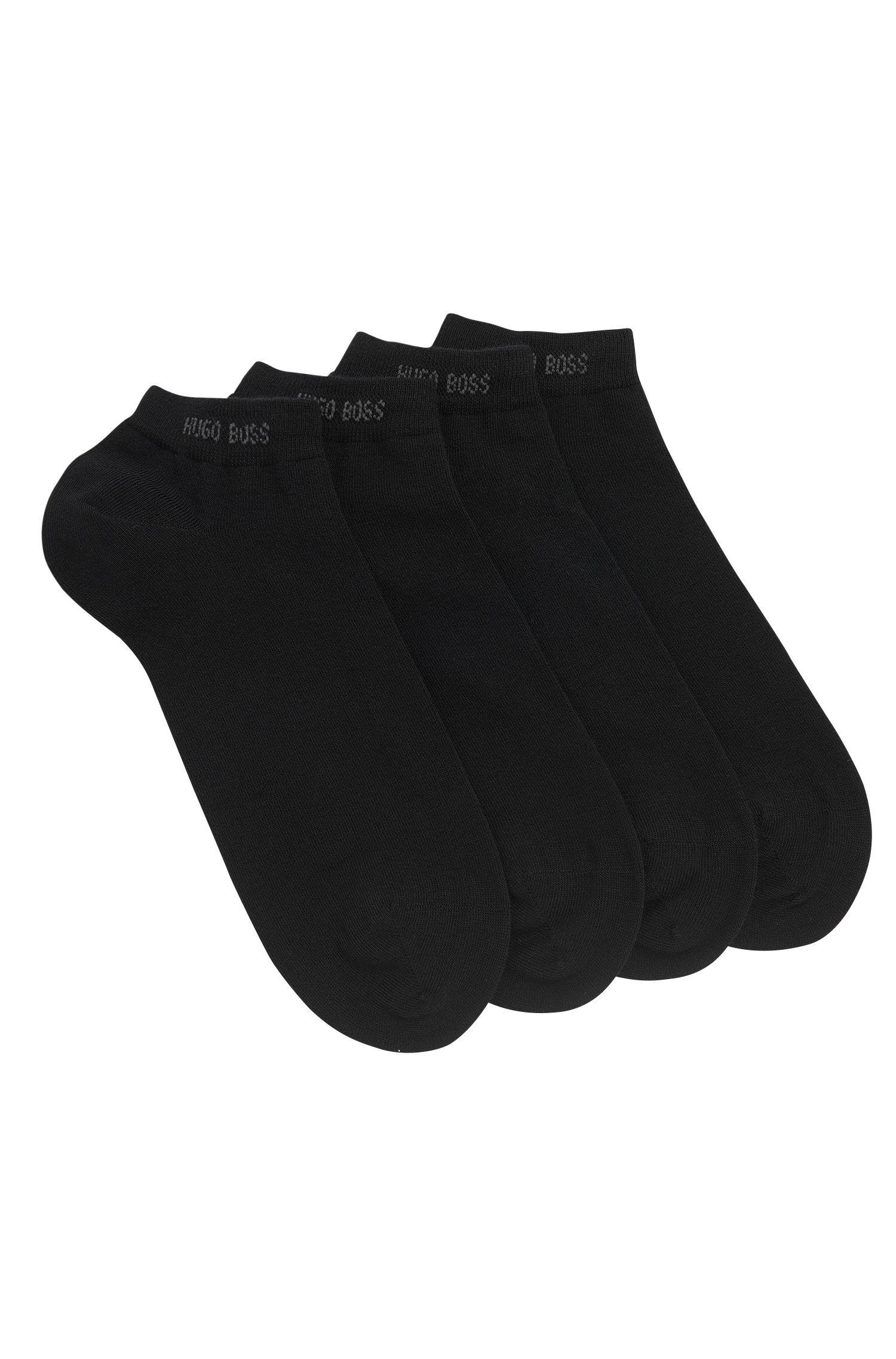 Calze alla caviglia in misto cotone in confezione da due