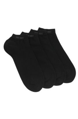 Two-pack of ankle socks in cotton blend, Black